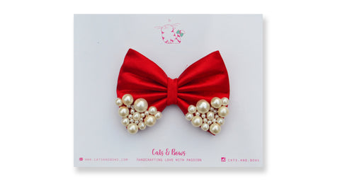 Medium Red Pearl Bow