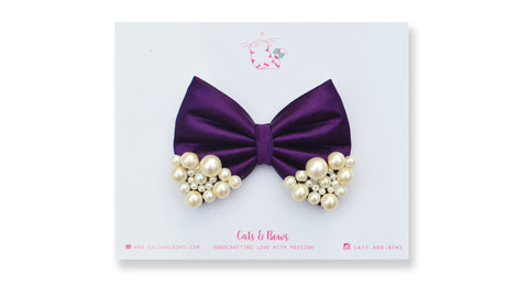 Medium Purple Pearl Bow