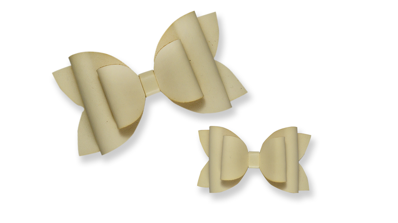 Ivory Leather Bow