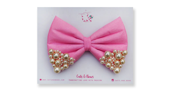 Baby Pink Pearl Bow
