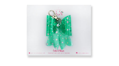 Starry Jelly Green Bow charm