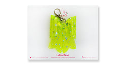 Starry Jelly Neon Green Bow charm