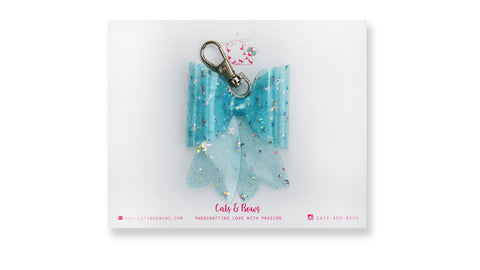 Starry Jelly Icy Blue Bow charm