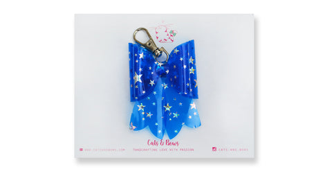 Starry Jelly Blue Bow charm