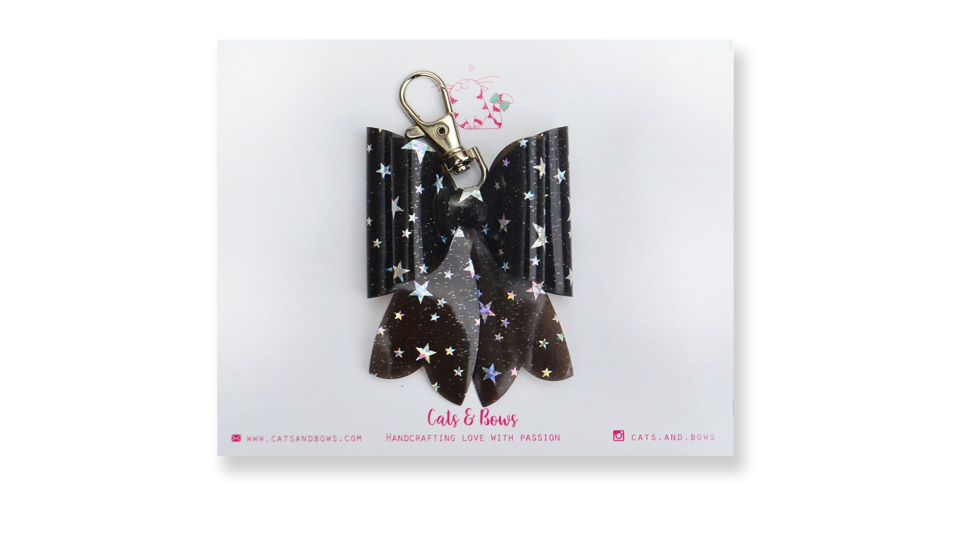 Starry Jelly Black Bow charm