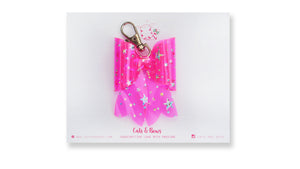 Starry Jelly Neon Pink Bow charm