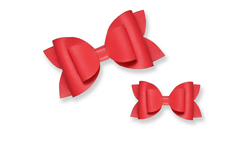 Coral Leather Bow