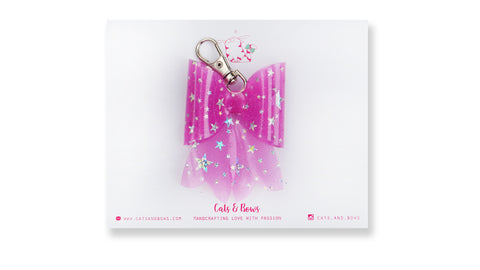 Starry Jelly Pink Bow charm