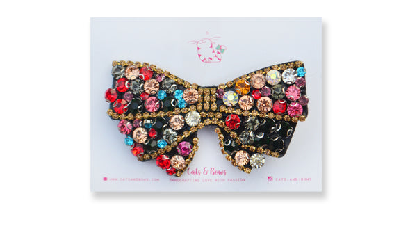 Multicolor Bejeweled Bow