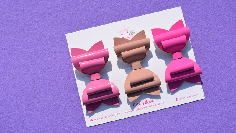 Glossy Love Set of 3 Bows