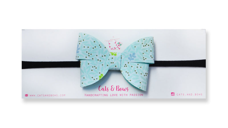 Flutterby Minty Floral Bow