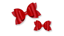 Red Leather Bow