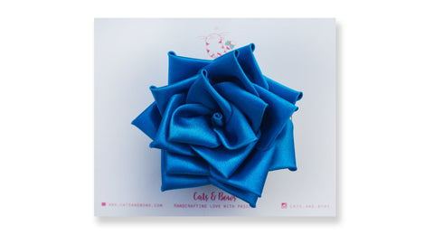 Satin Rose Peacock Blue