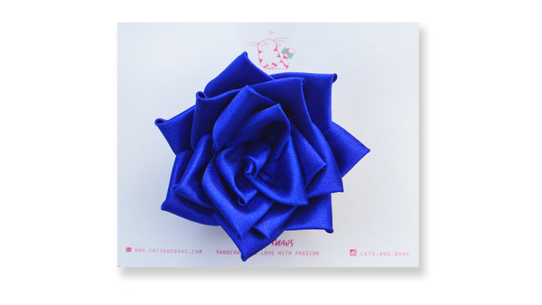 Satin Rose Royal Blue