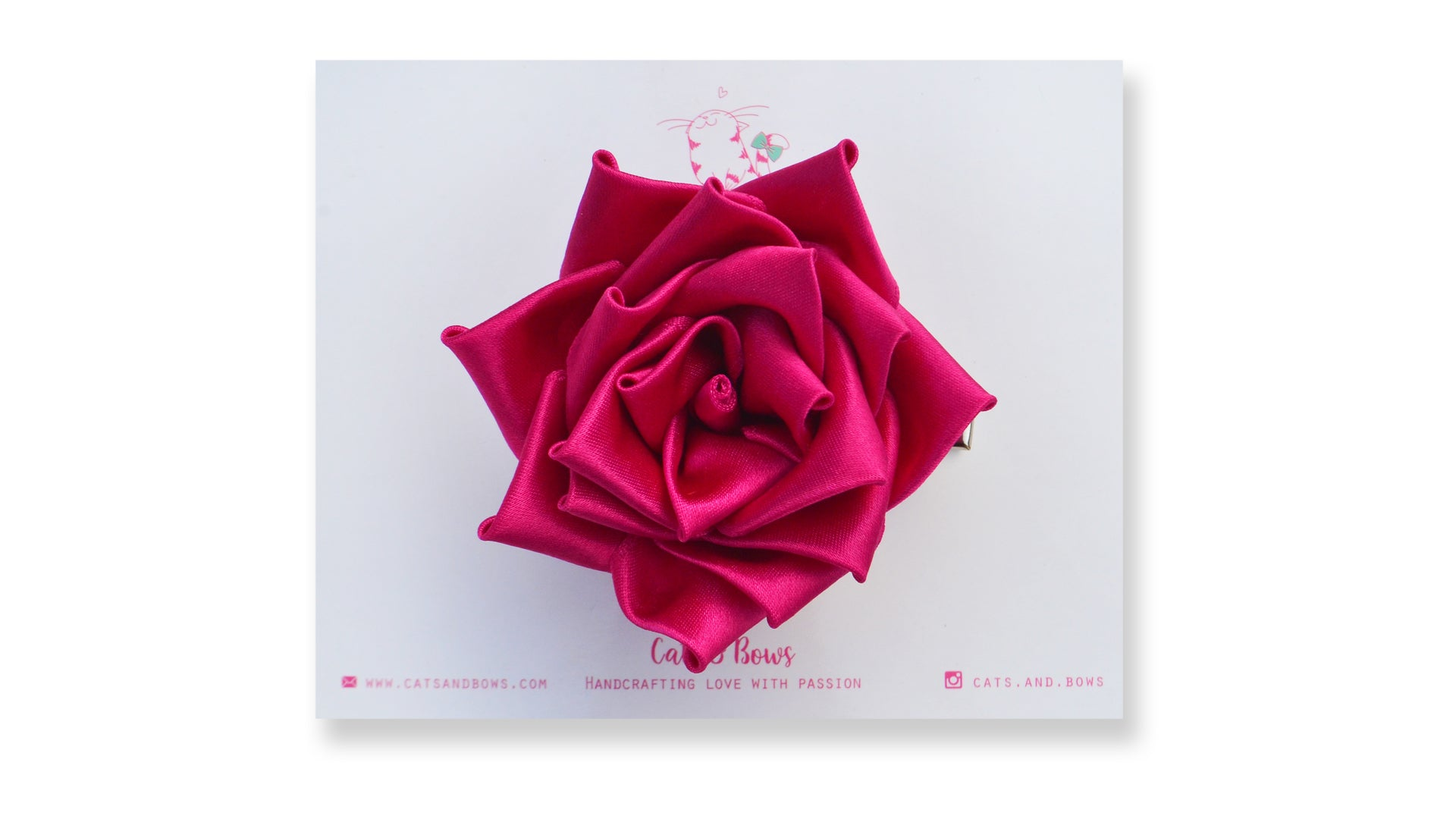 Satin Rose Dark Pink