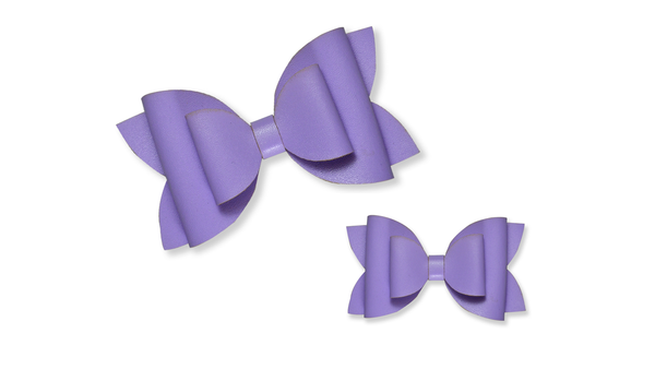 Lavender Leather Bow