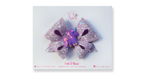 Lavender Unicorn Bow