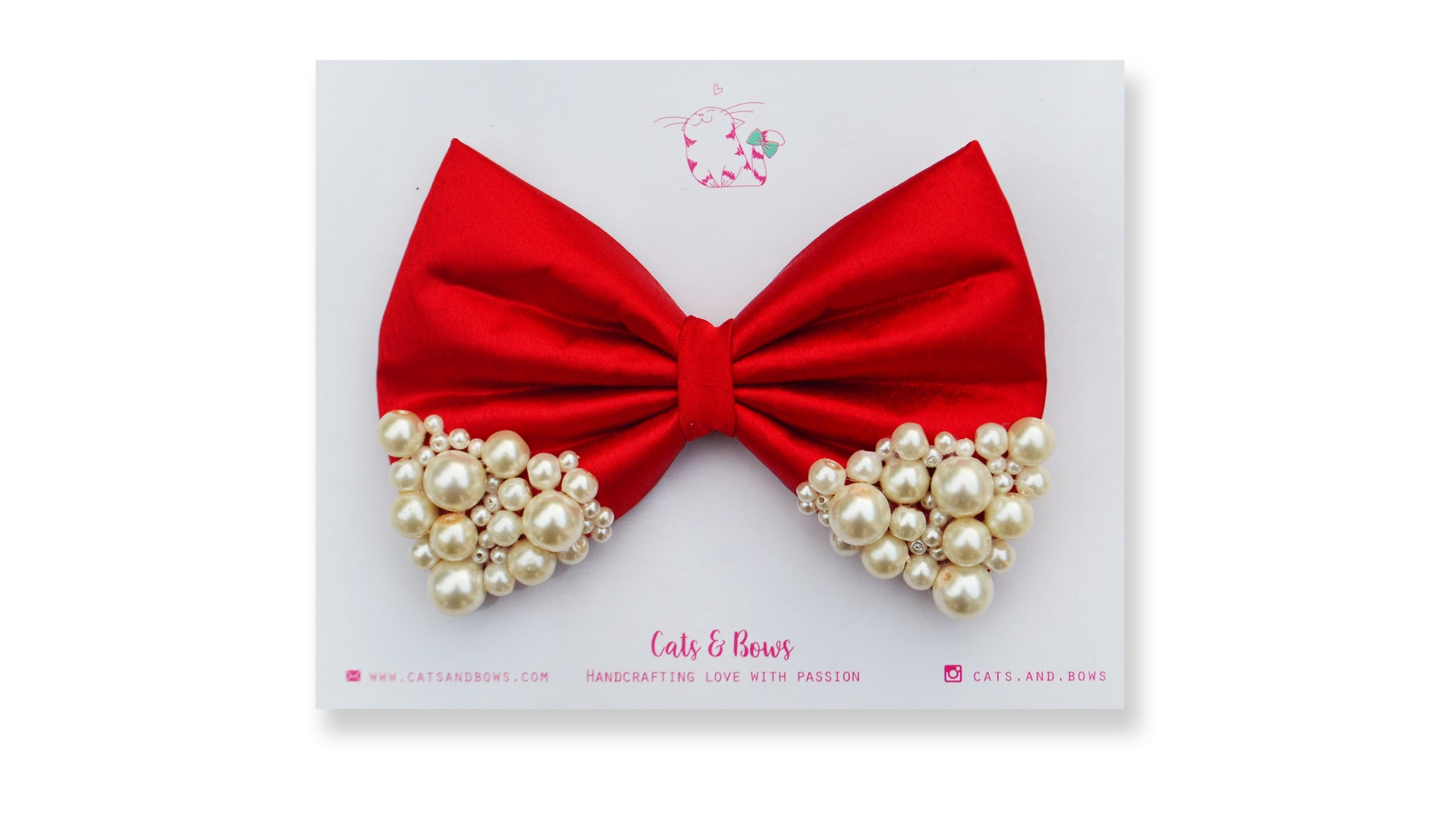 Red Pearl Bow