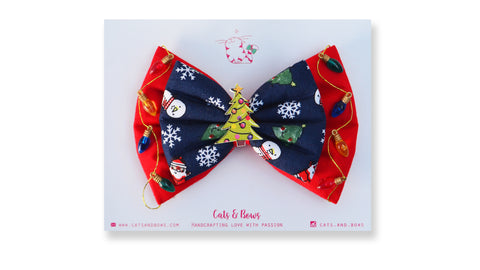 Christmas Baubles Bow