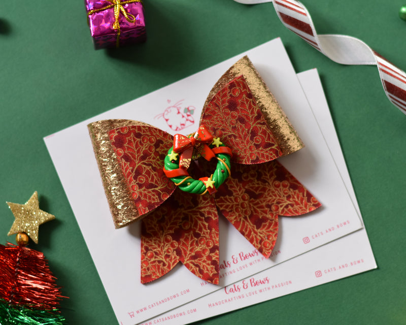 Wreath French Bow-2