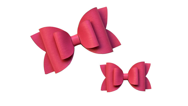 Pink Leather Bow