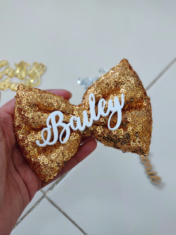 Gold Sequin Bow