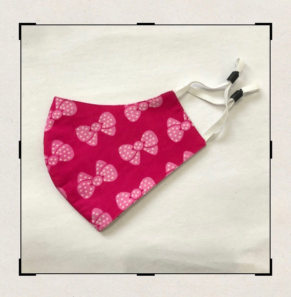 Pink Bow printed mask