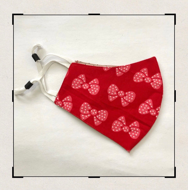 Red Bow printed mask