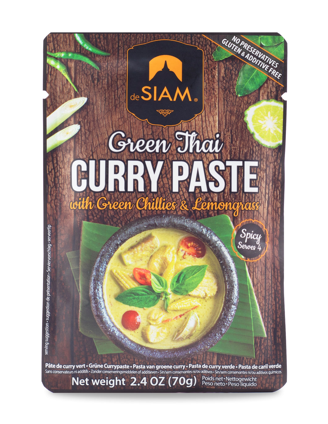 Pastas de curry VERDE THAI DESIAM