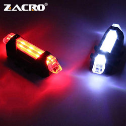 Rechargeable Bicycle Bike LED Tail Light Cycling Safety Warning Rear Lamp flash