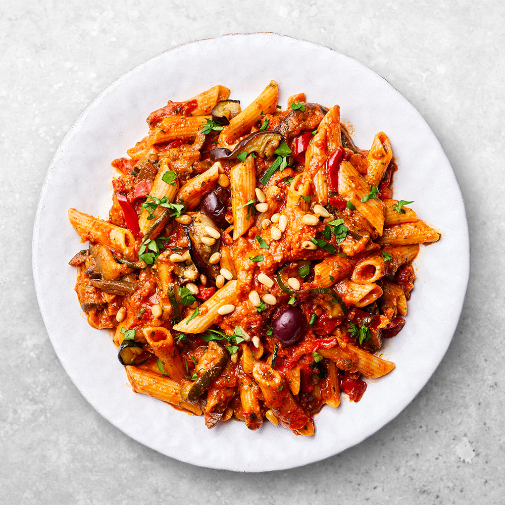 Red Pesto + Roasted Vegetable Penne