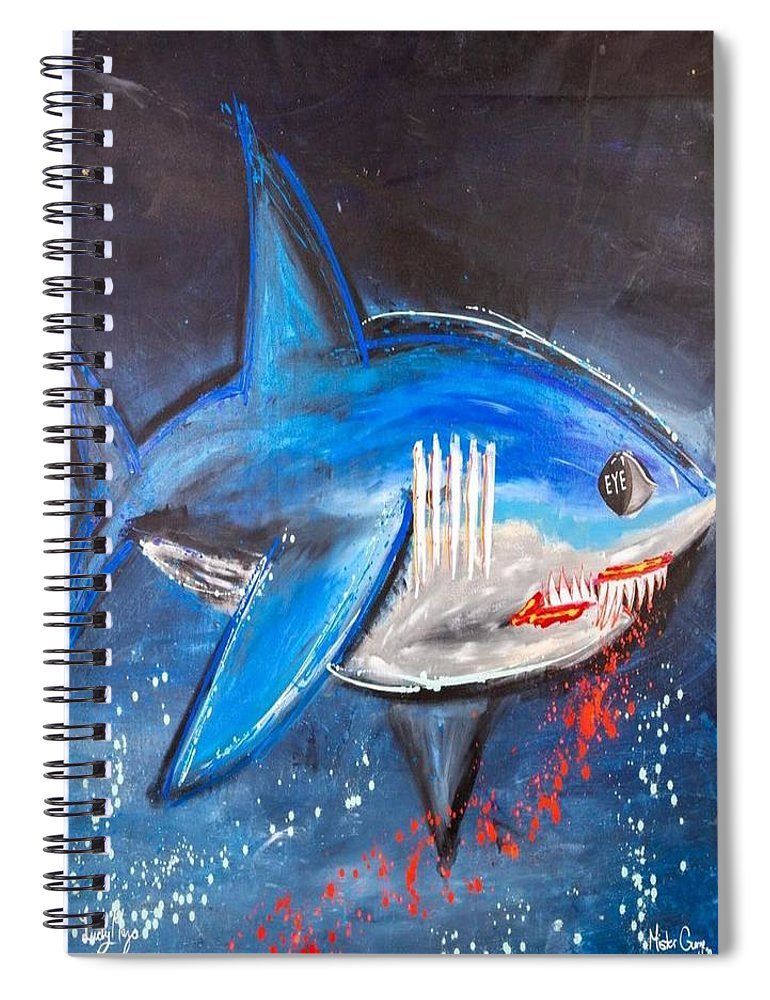 Shark Attack  - Spiral Notebook