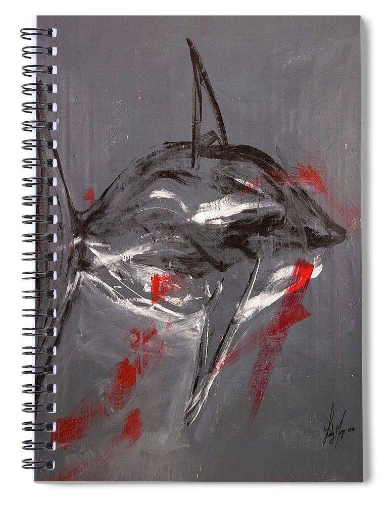 Shark Grey - Spiral Notebook