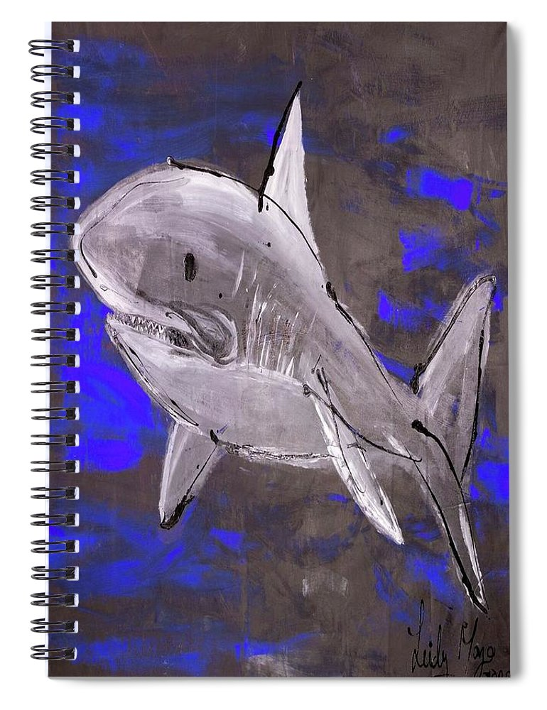 Blue Shark - Spiral Notebook