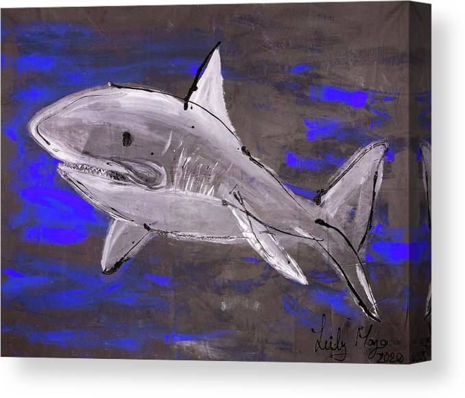 Blue Shark - Canvas Print