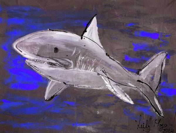 Blue Shark - Art Print