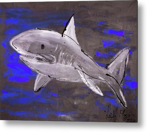 Blue Shark - Metal Print
