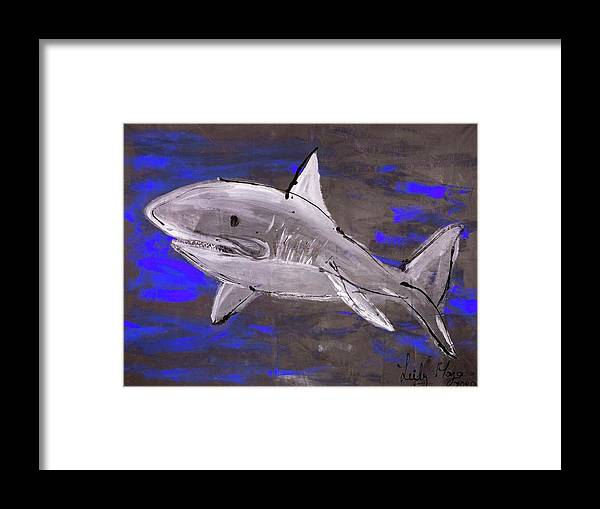 Blue Shark - Framed Print