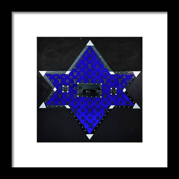 Gray Star - Framed Print