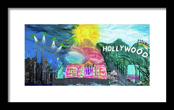 Hollywood - Framed Print
