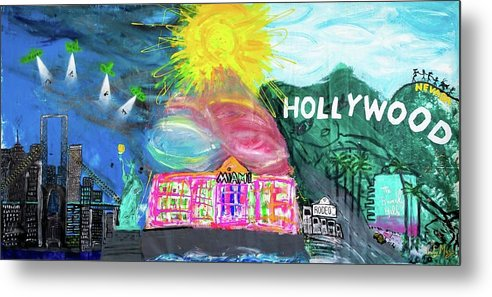 Hollywood - Metal Print