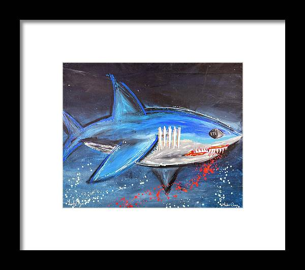 Shark Attack  - Framed Print
