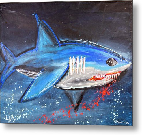 Shark Attack  - Metal Print