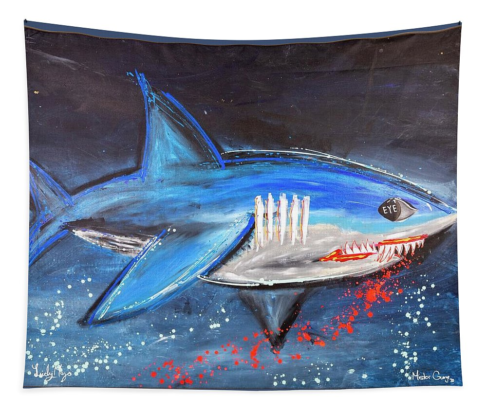 Shark Attack  - Tapestry