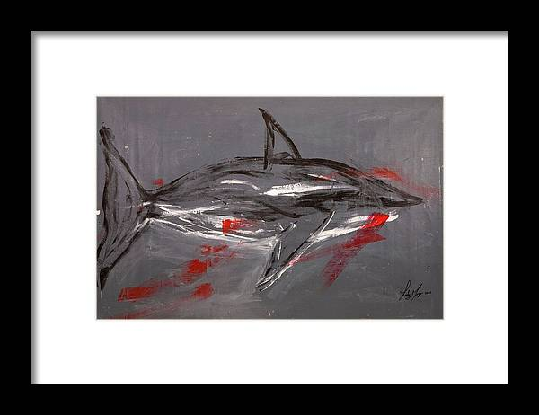 Shark Grey - Framed Print