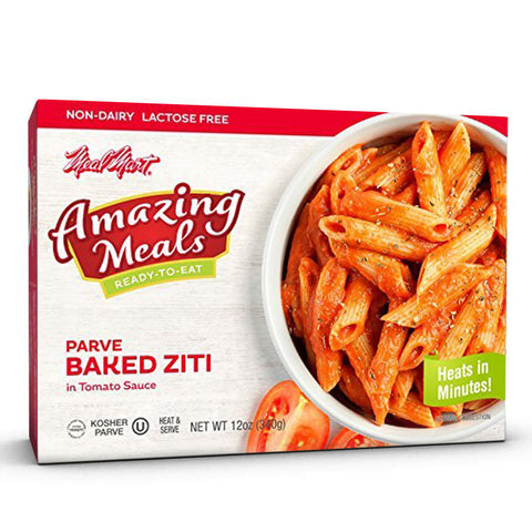 Meal Mart Amazing Meals Baked Ziti (Parve), 12 Ounce Each (Pack of 12)