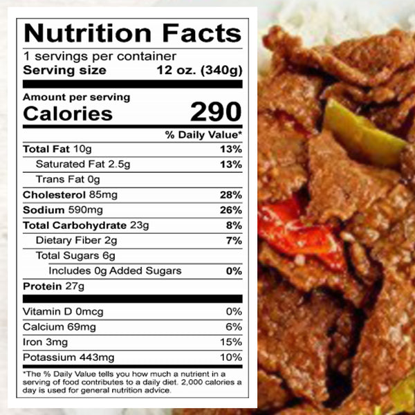 Meal Mart Amazing Meals Beef Pepper Steak, 12 Ounce Each (Pack of 12)