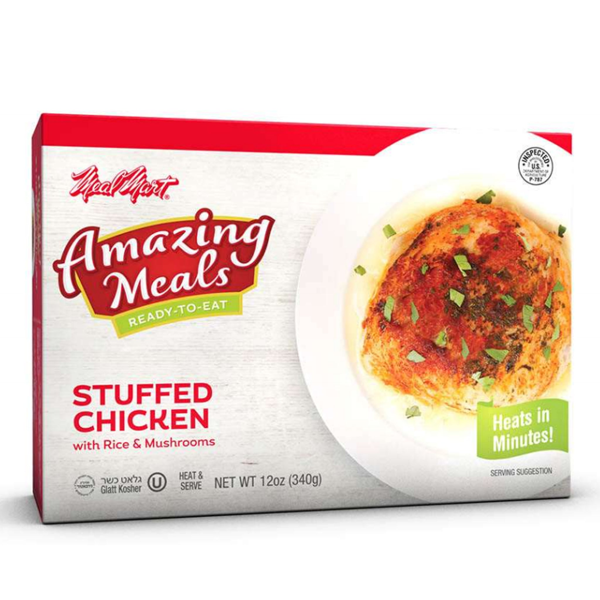 Meal Mart Amazing Meals Stuffed Chicken, 12 Ounce Each (Pack of 12)