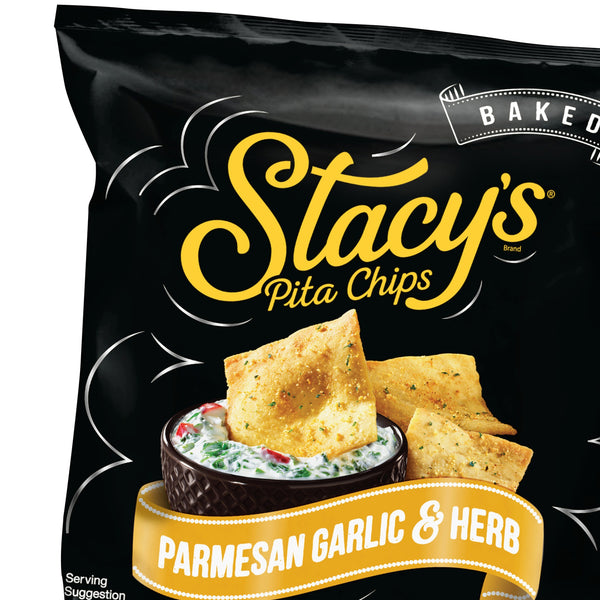 Stacy's® Garlic Parmesan Pita Chips, 1.5 Ounce Bags (Pack of 24)