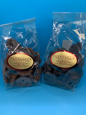 8 oz. Chocolate Covered Pretzels (Milk or Dark)